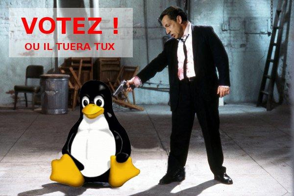 Sarkozy tueur de Tux