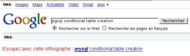 google et postgresql