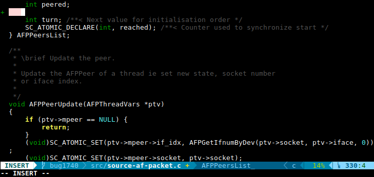 Vim status with powerline